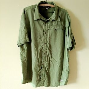 Marmot Button Down Shirt Large Green (See notes)